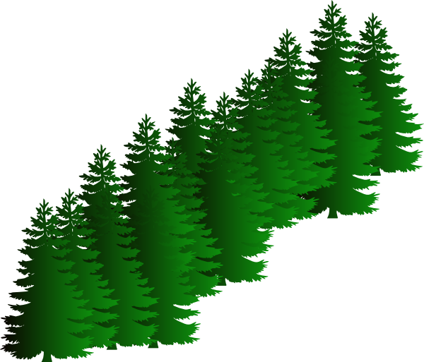 Cluster clip art at. Tree clipart evergreen