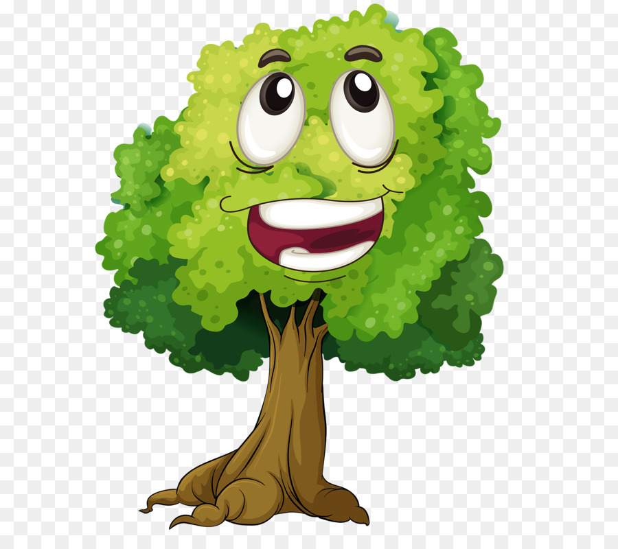 Download clip art . Clipart tree face
