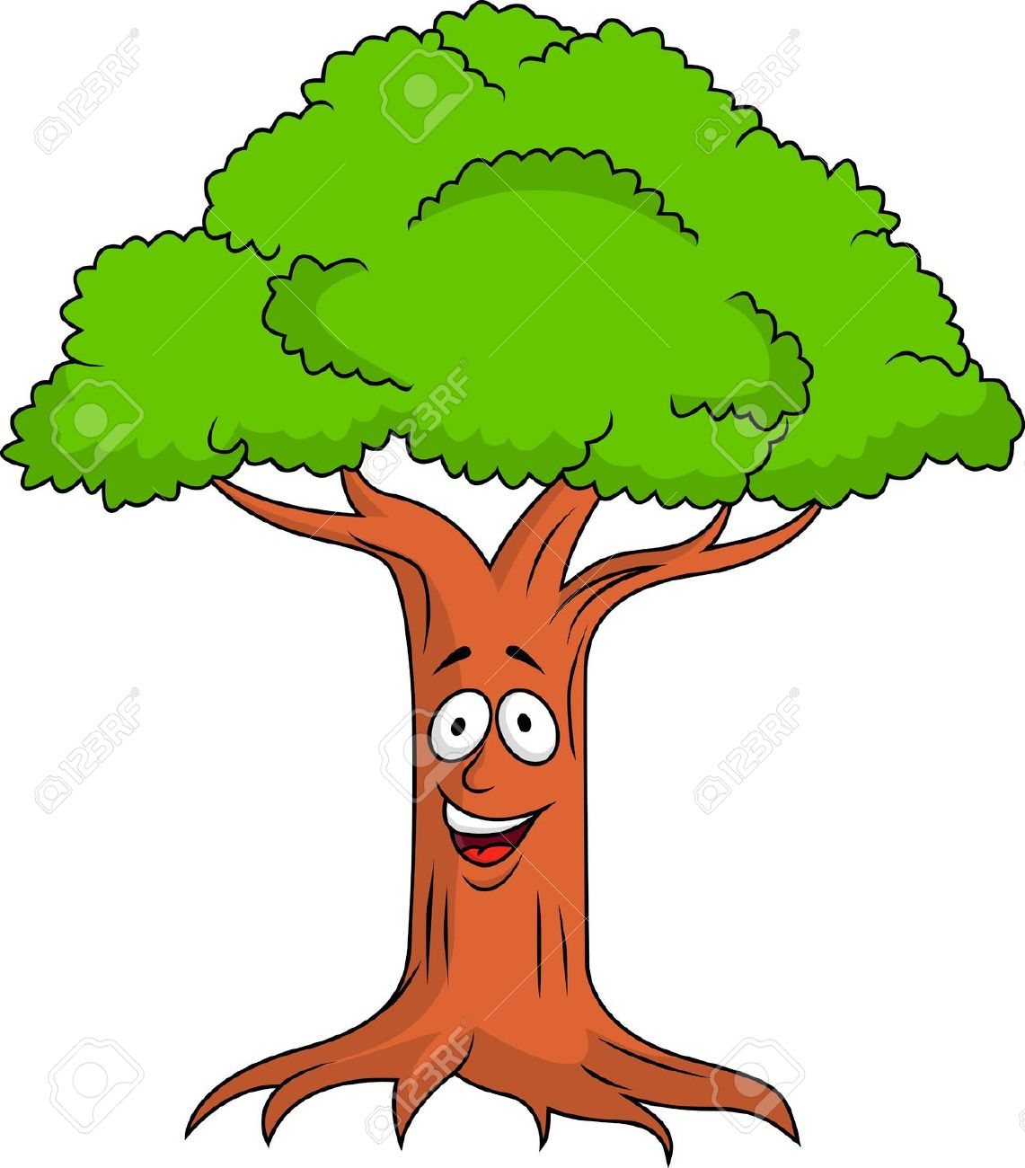 clipart tree face