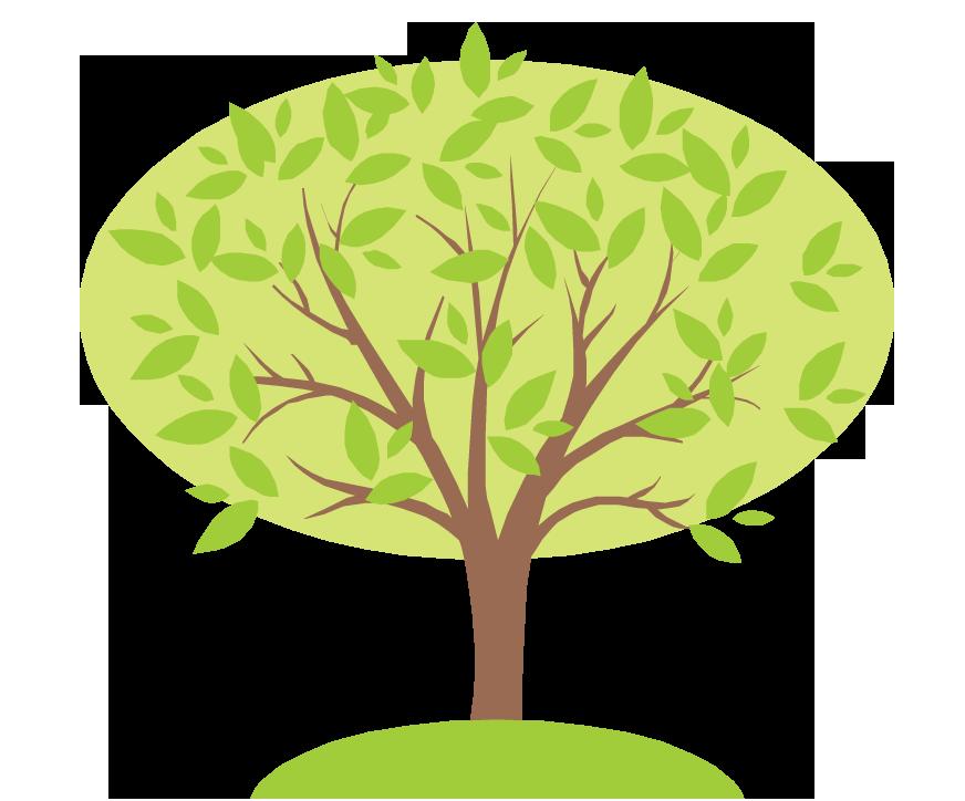 Clipart tree family tree. Genealogy and health