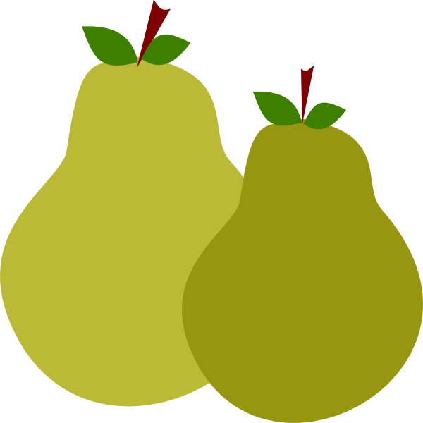 Clipart tree food. Pair of pears clip