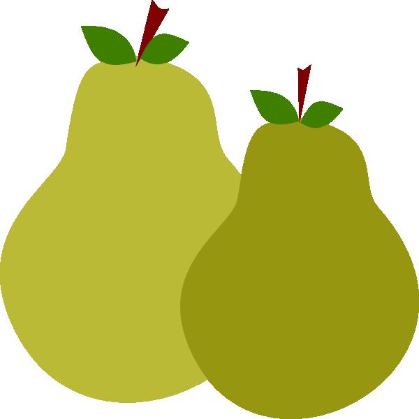 Pear clipart buah. Pair of pears clip