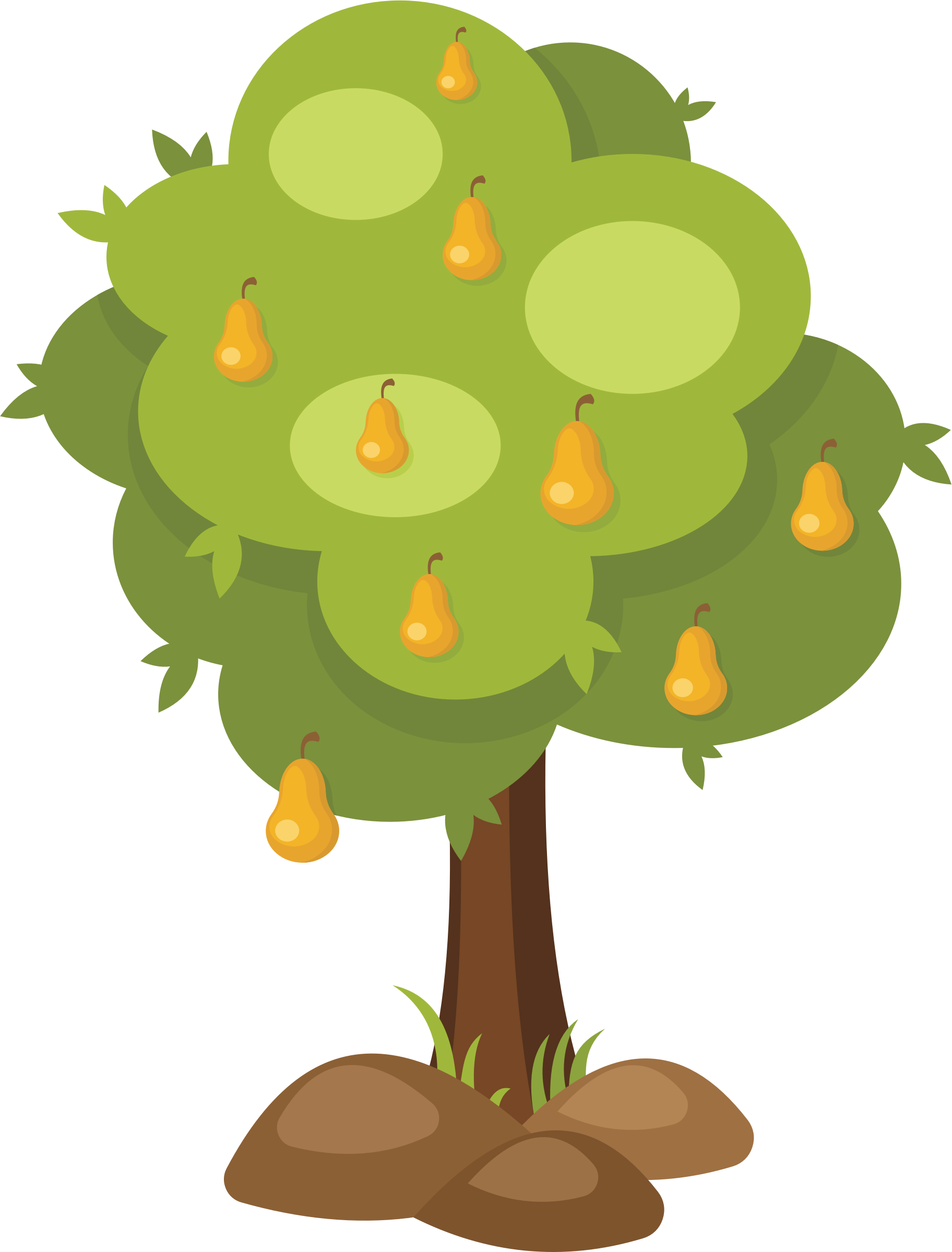 Tree big image png. Pear clipart cartoon