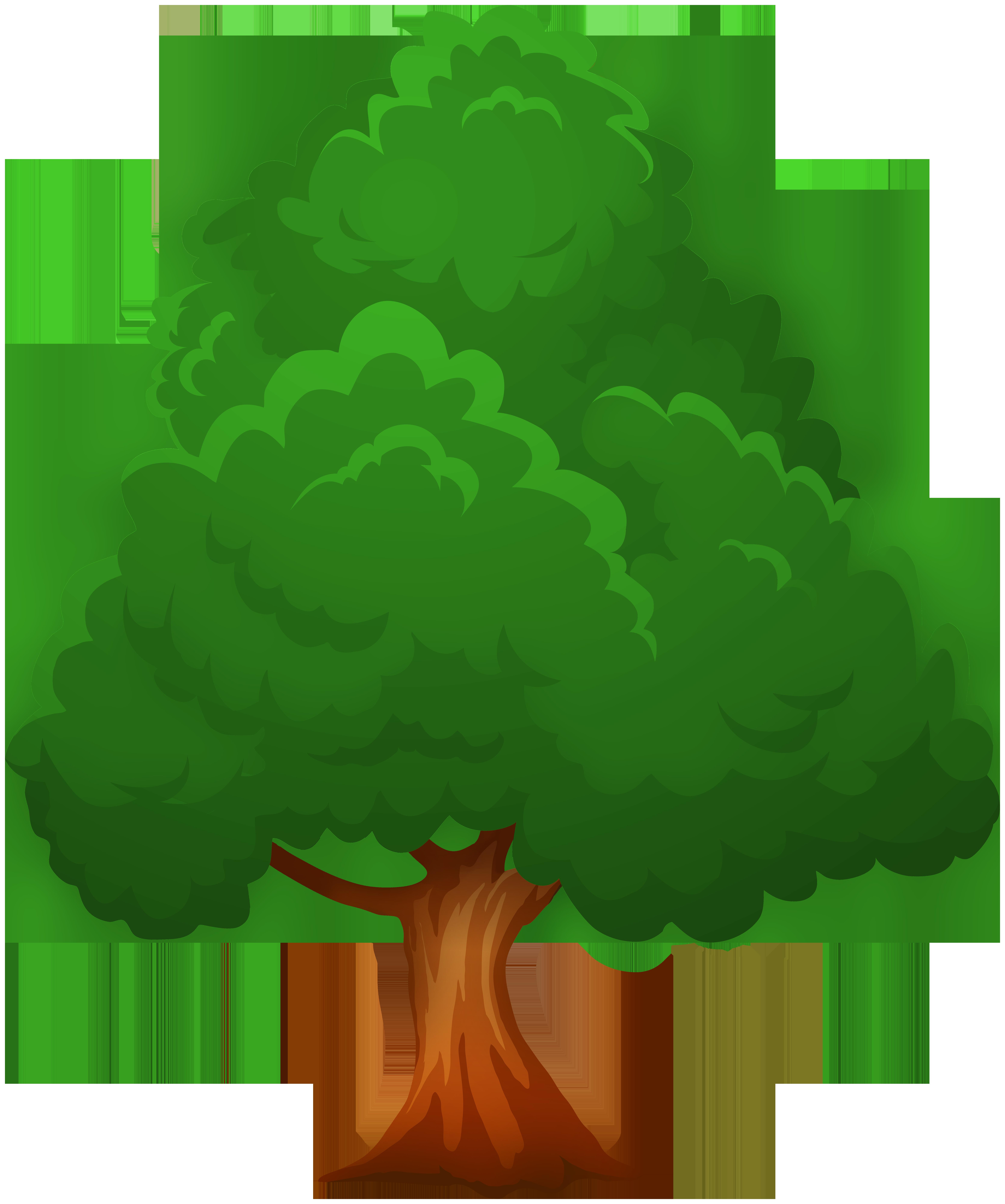 Tree clipart green. Big png clip art