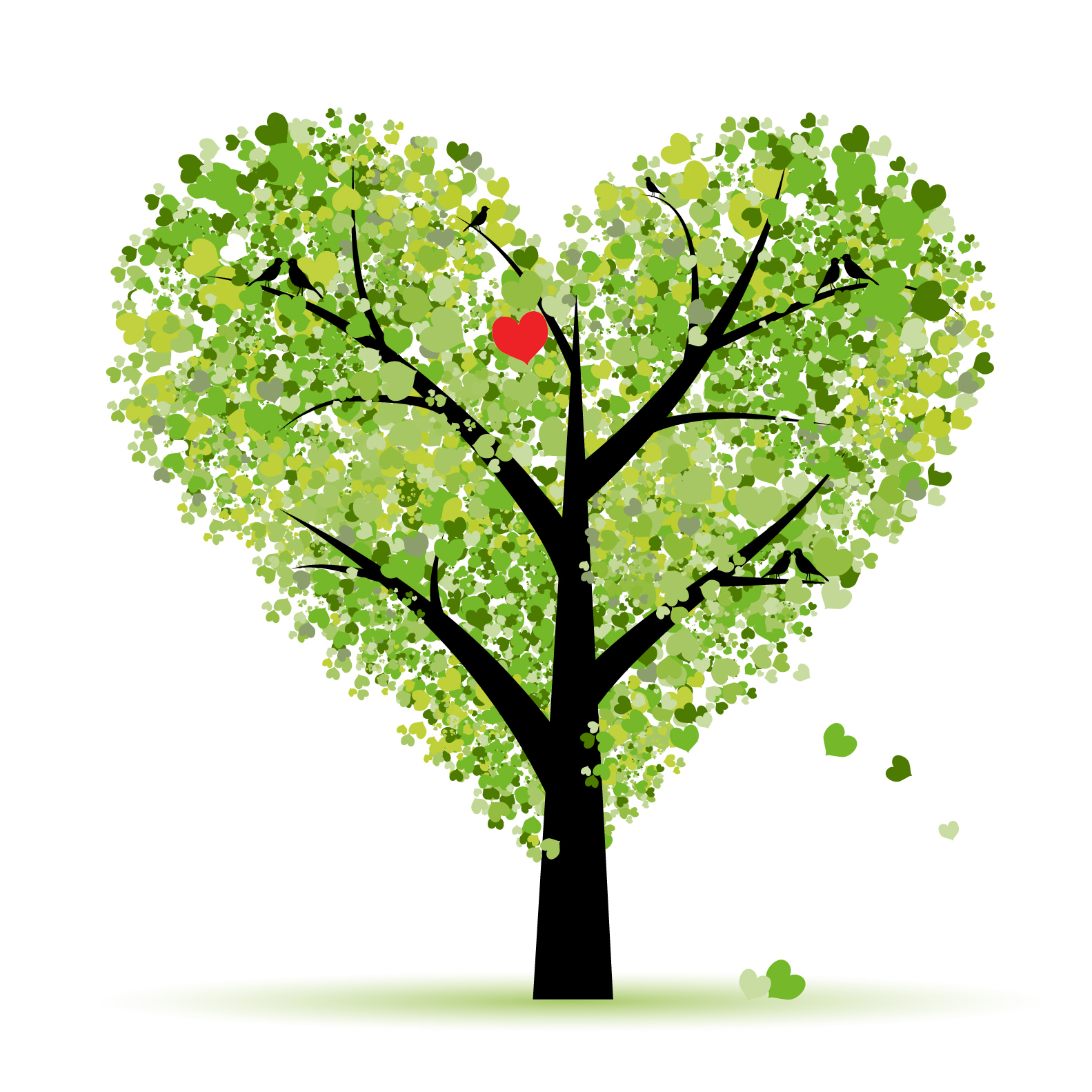 Free cliparts download clip. Tree clipart heart
