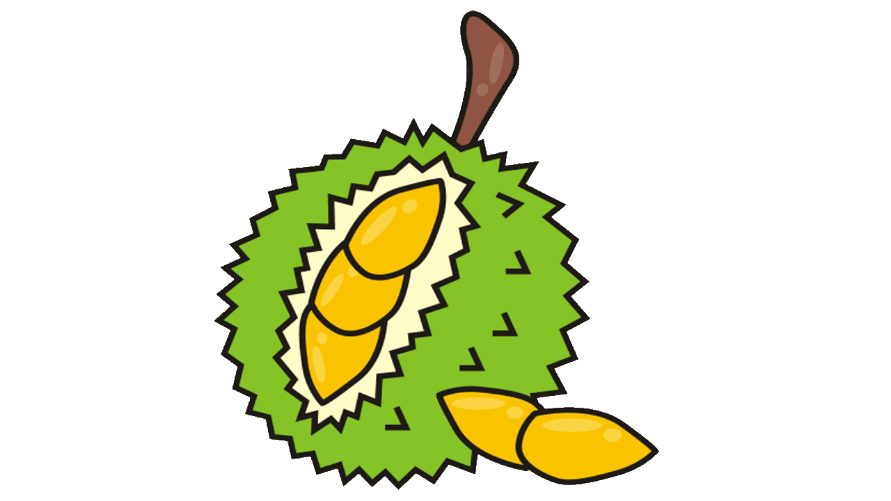 durian royalty free. Tree clipart jack fruit
