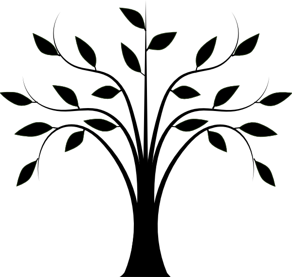 collection of tree. Clipart trees line art