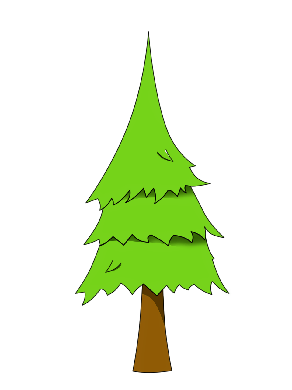 Png opengameart org treepng. Leaf clipart pine tree