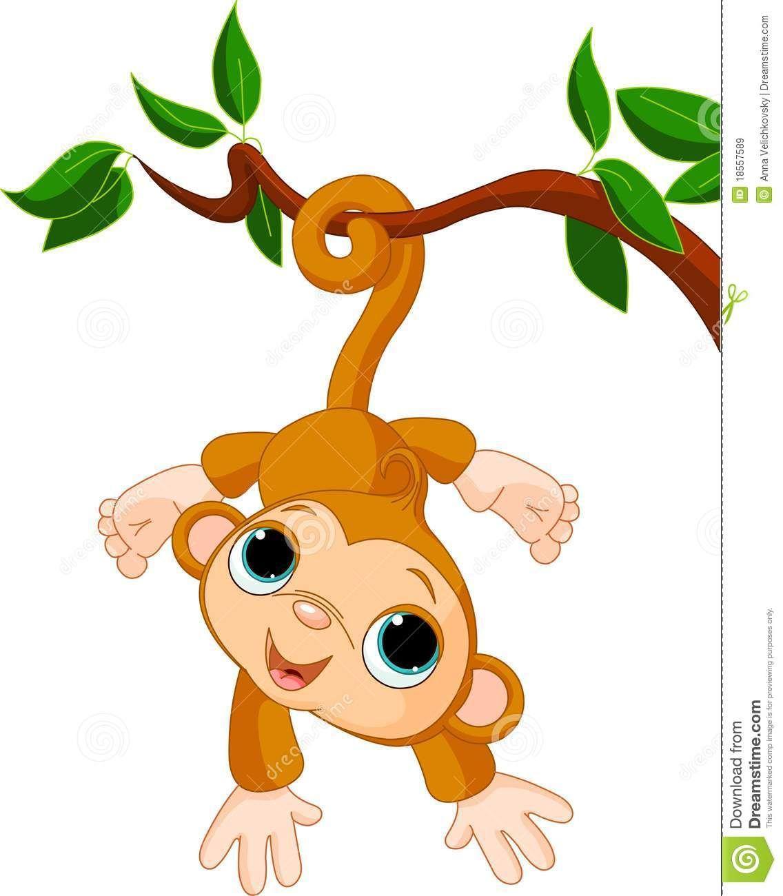 Monkeys clipart tree. Girl monkey clip art