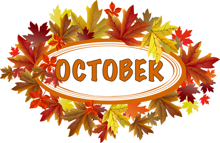 October efan monthly meeting. Words clipart month