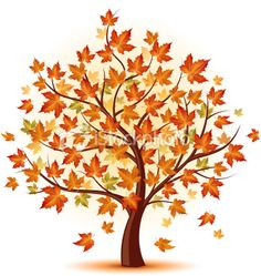 Tree clipart october.