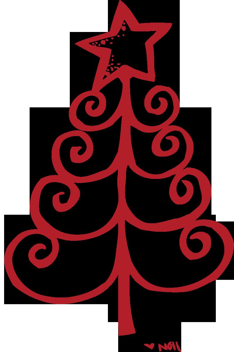 Travel outline clipground melonheadz. Hawaiian clipart christmas tree