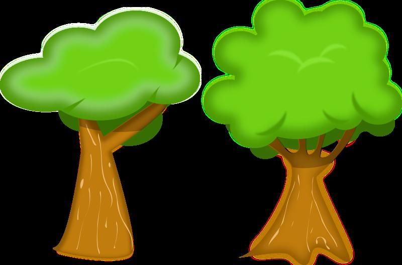 Clipart tree pdf. Soft trees medium image