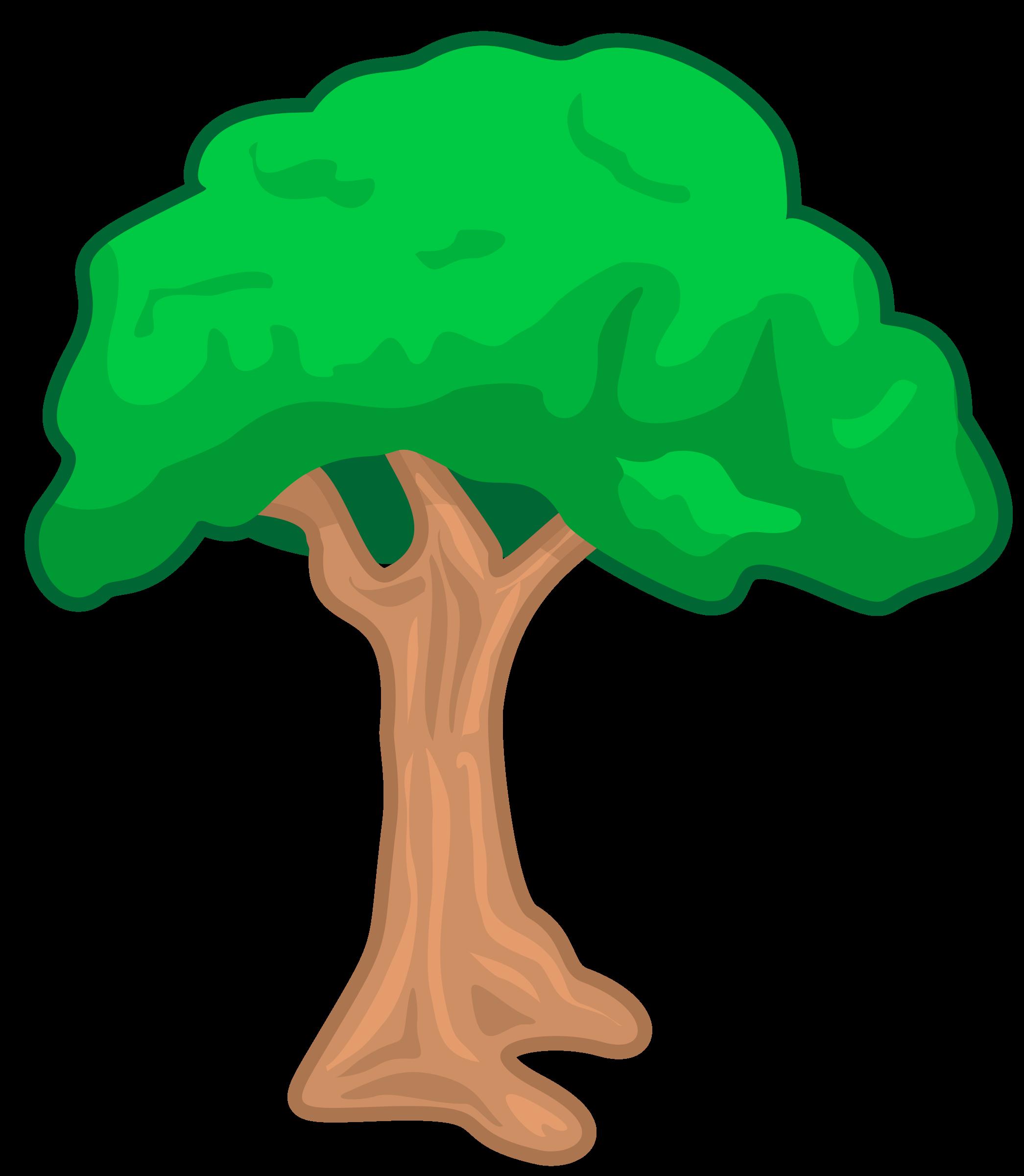 Trace. Clipart tree pdf