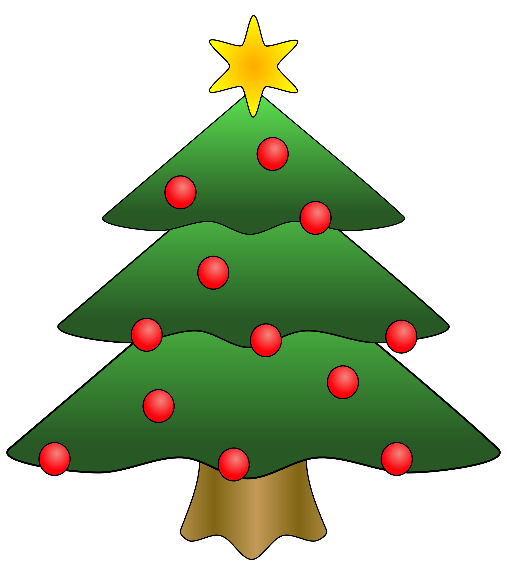 Clipart tree pencil. Christmas symbol and in