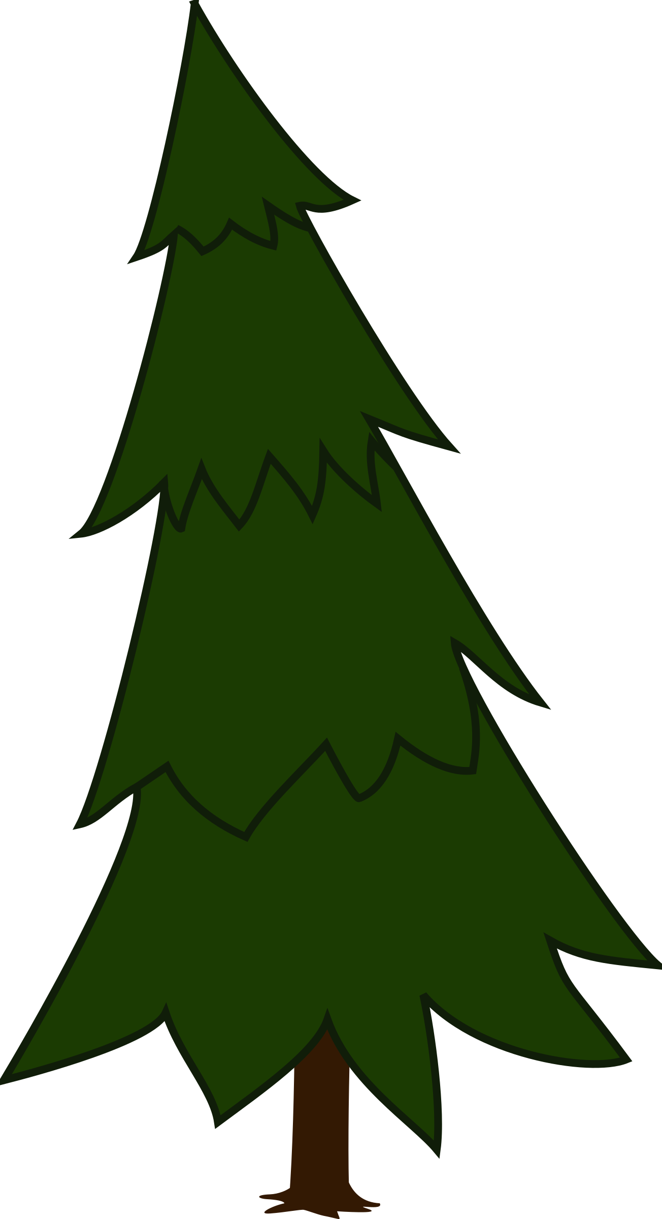 Clipart tree pencil. Pine spruce and in