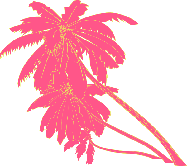 Clipart tree pink. Palm clip art at