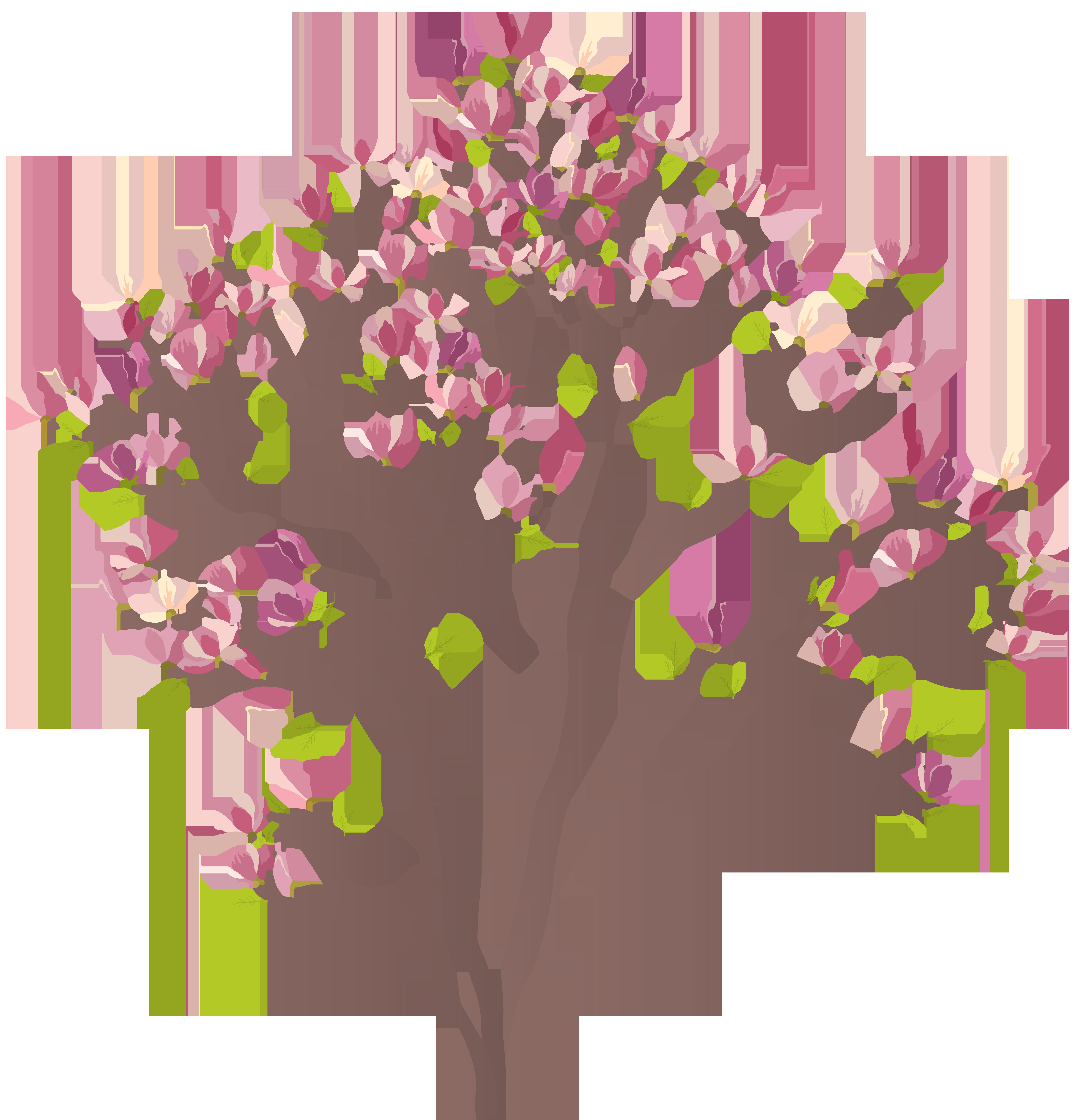 Mmagnolia png clip art. Clipart tree pink