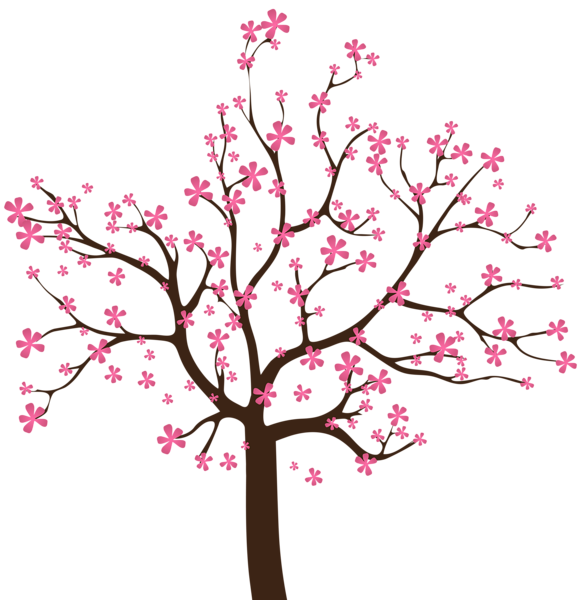 Clipart tree pink. Gallery spring png