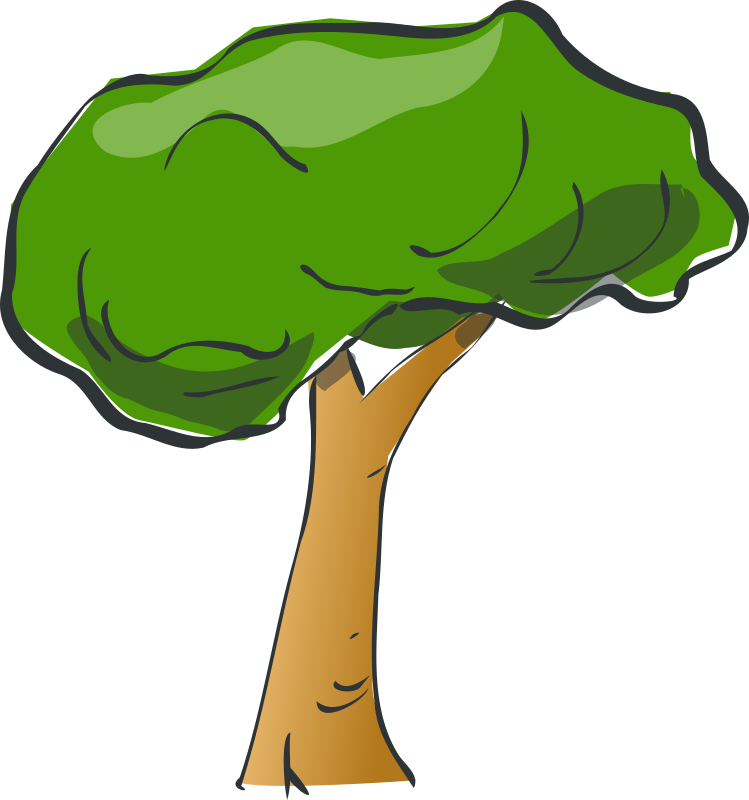 clipart trees rainforest