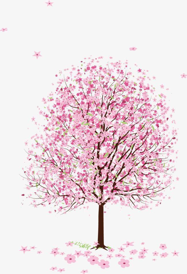 Tree clipart romantic. Pink peach blossom