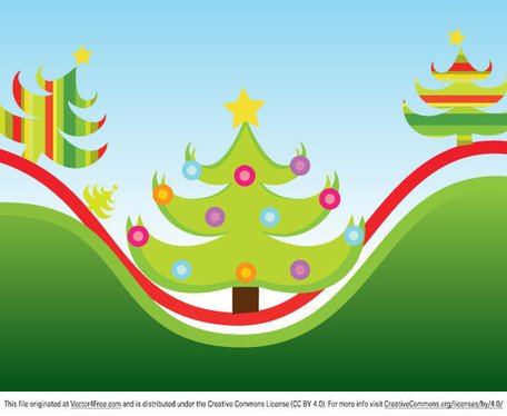 Free christmas scenes and. Clipart tree scene