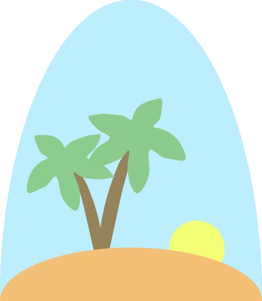 Clipart tree scene. Island clip art at