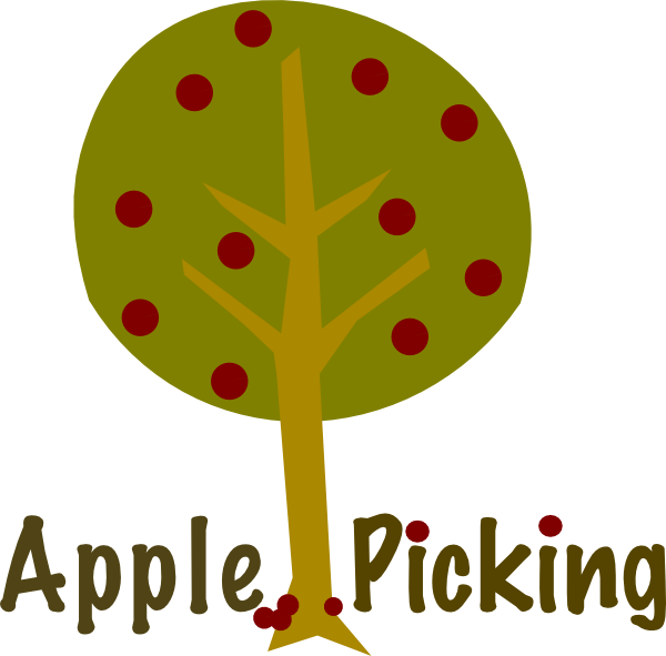 Apple picking clip art. Tree clipart september