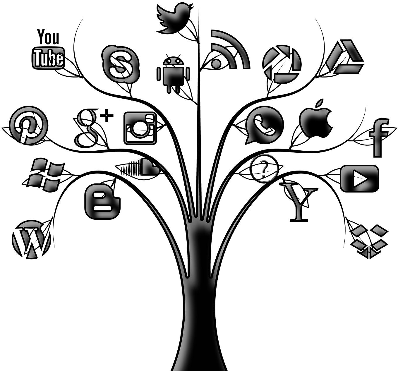 Tree clipart social media. Marketing myramani web development