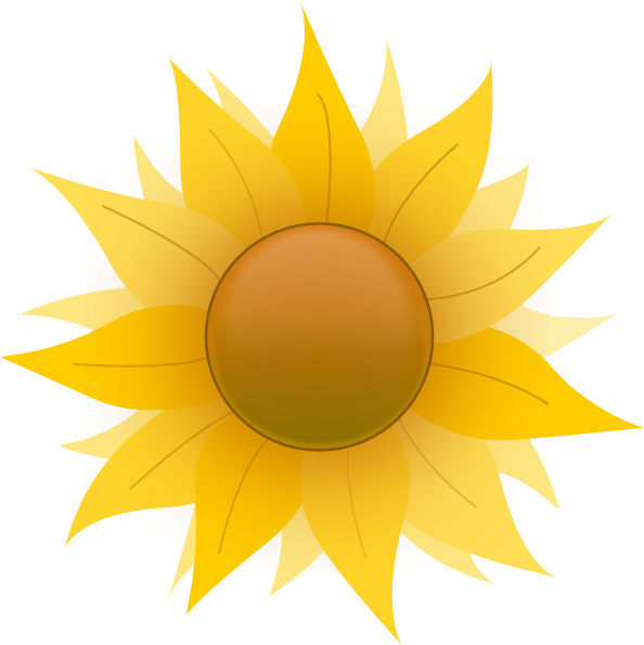 Tree clipart sunflower. Yellow clip art at