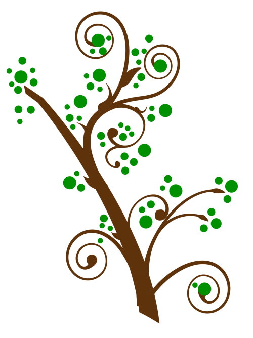 Tree png transparent image. Clipart trees swirl