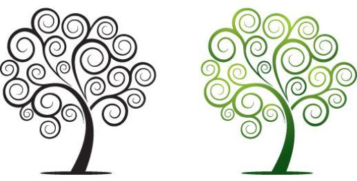 Clipart trees swirl. Tree clip art library