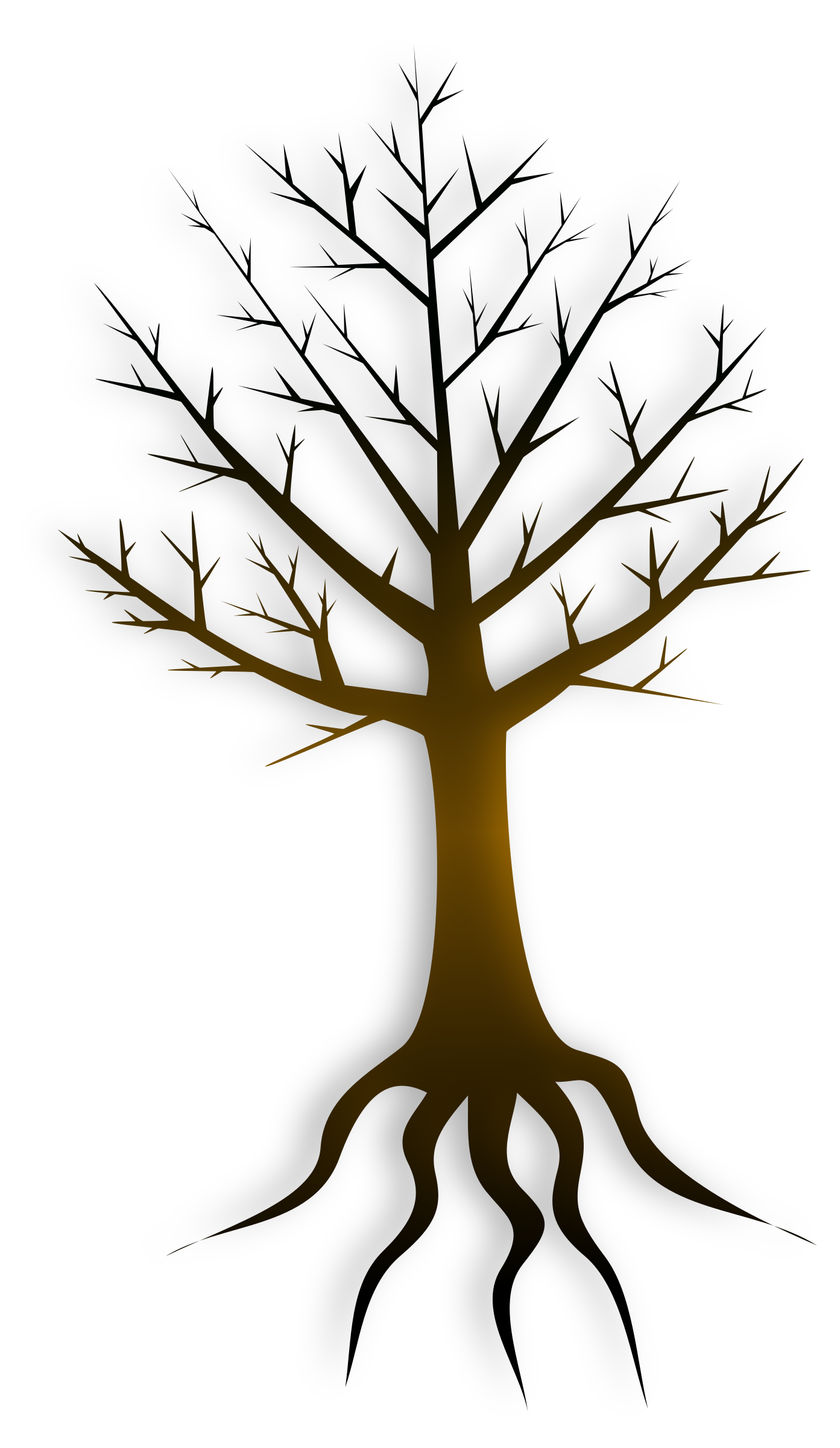 Tree trunk big image. Clipart trees root