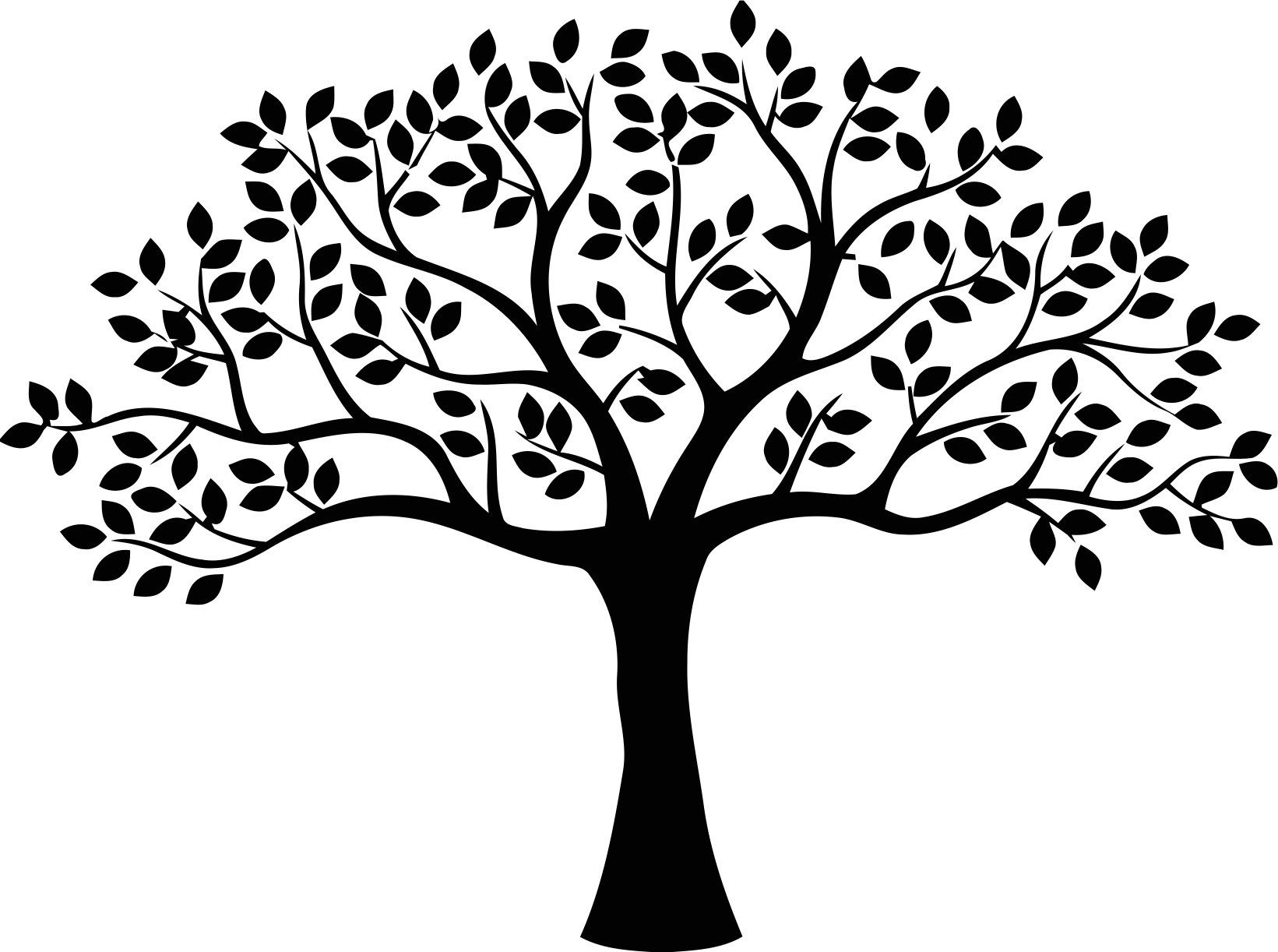 Decor free cdr download. Tree clipart vector