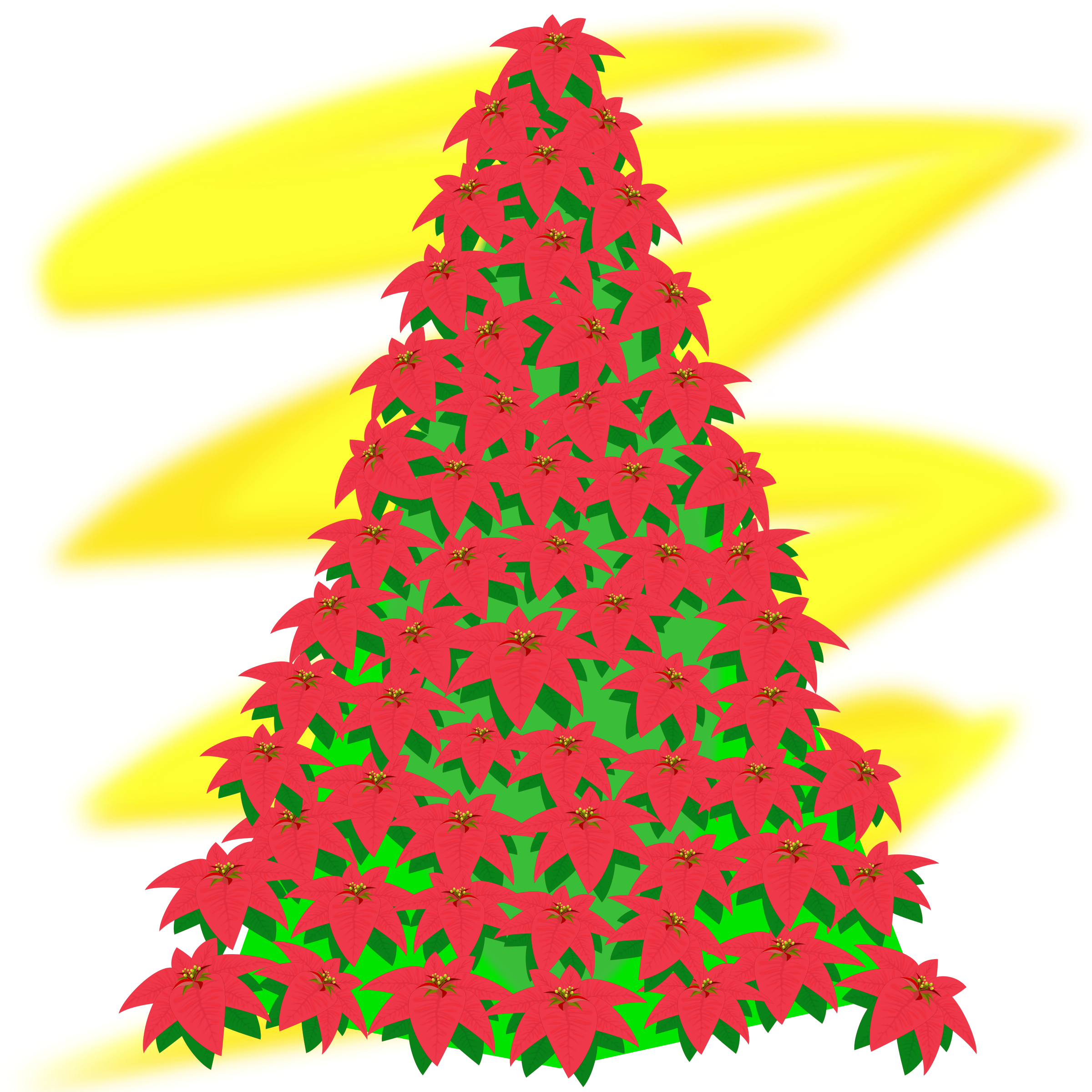 Clipart tree vector. Free christmas red silhouette