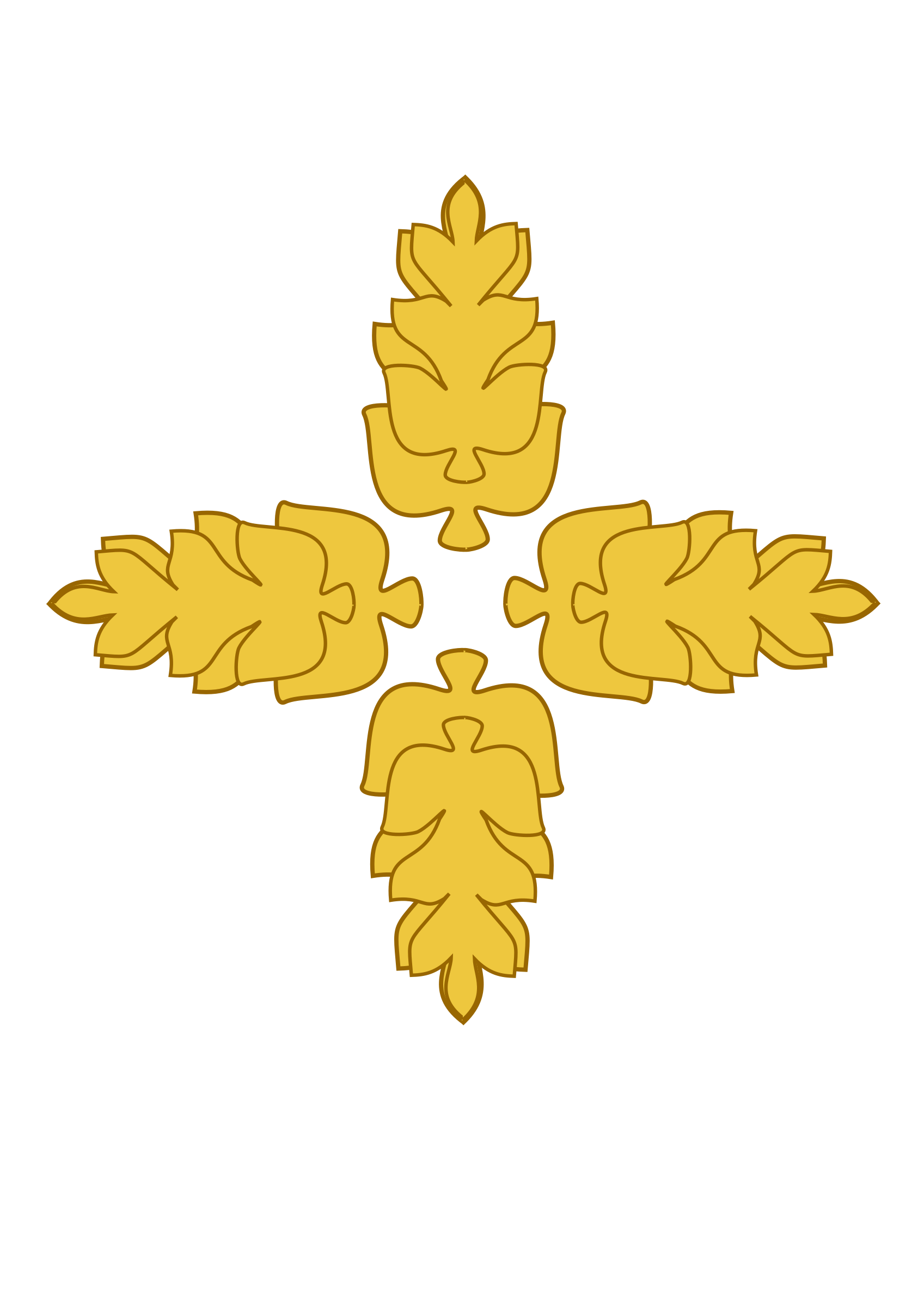 Golden medallion big image. Clipart tree wheat