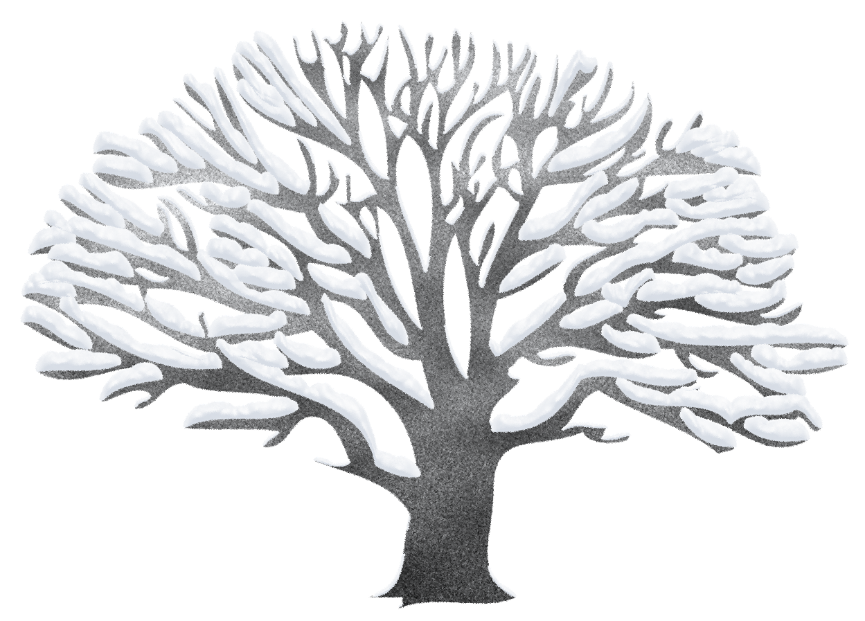 Clipart trees winter. Tree ping