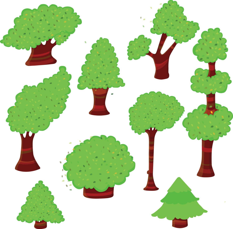 Trees green . Tree clipart woodland