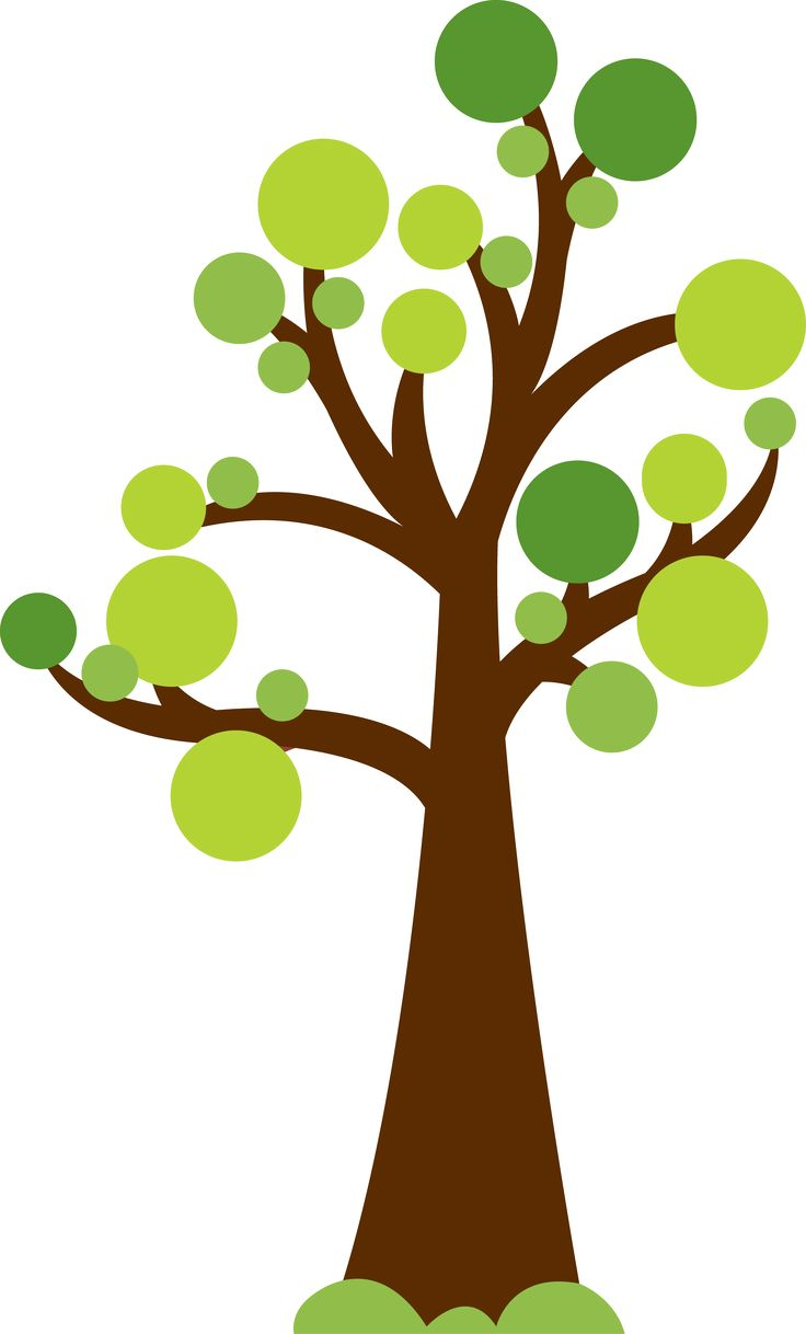 Clipart trees. Tree with circles for