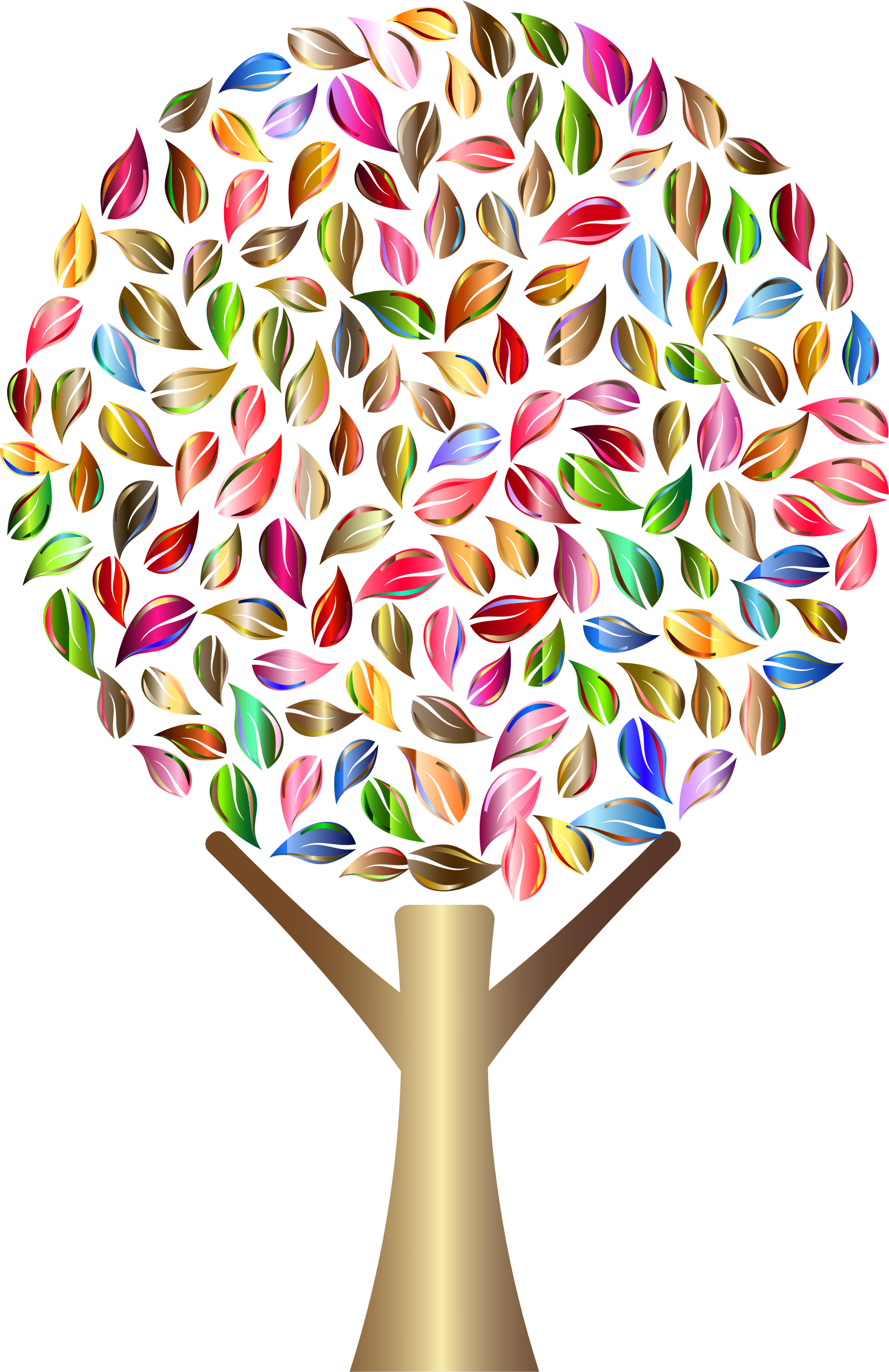 Clipart trees abstract. Prismatic tree no background
