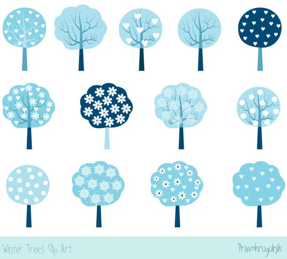 Winter tree christmas clip. Clipart trees blue