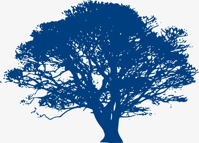Tree decoration png . Clipart trees blue