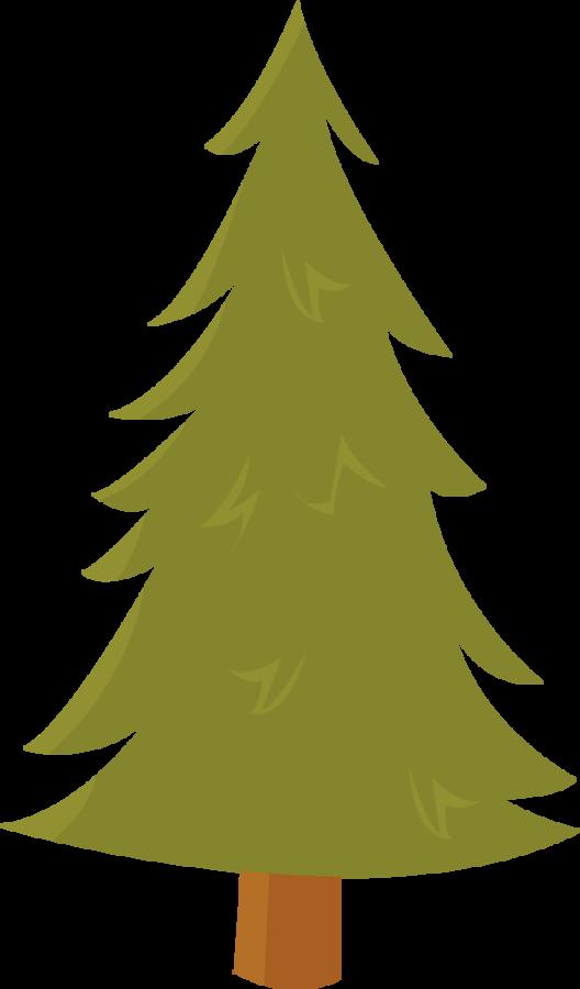Minus say hello pinterest. Woodland clipart christmas tree