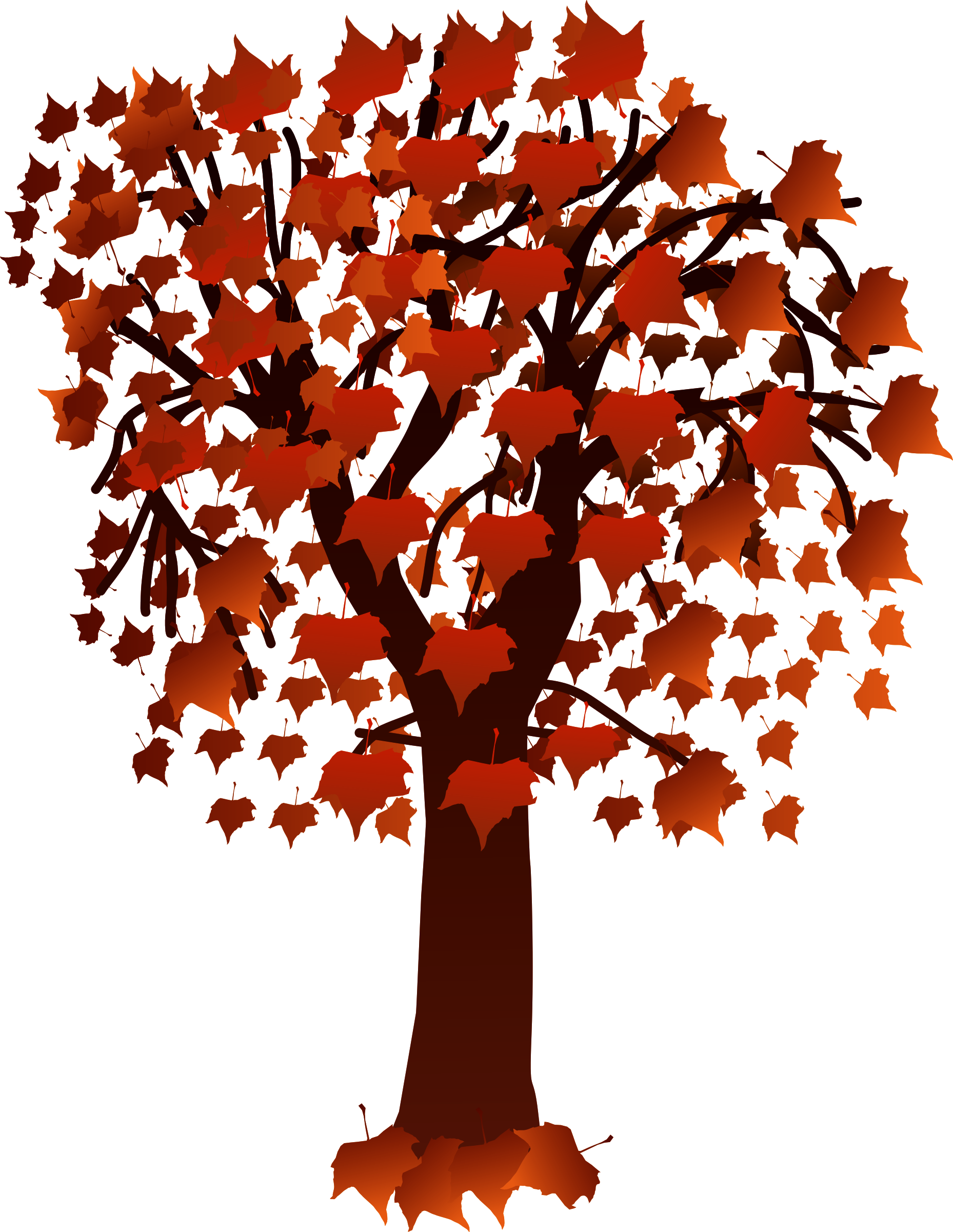 Maple with leaves isolated. Tree clipart hand holding