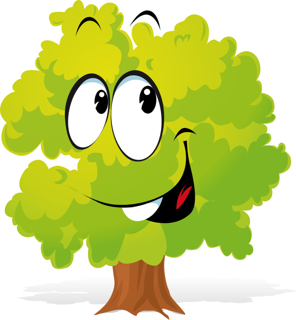 X free clip art. Clipart trees face