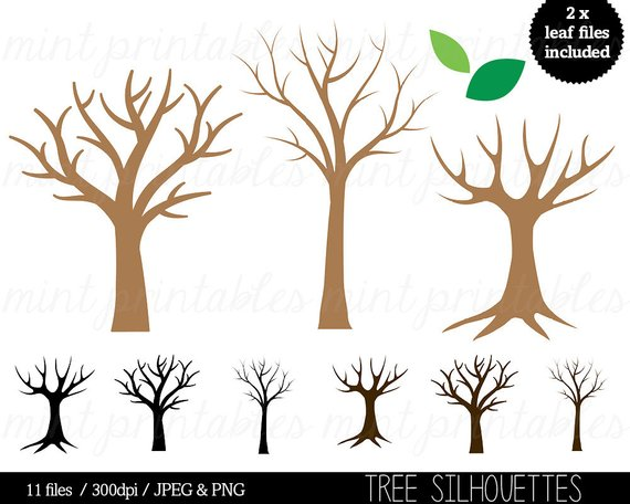Tree Silhouette Clipart, Tree Clip Art, Trees Family Tree ...