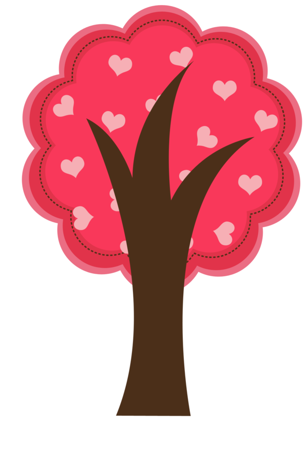 trees hearts valentine. Gardening clipart angel