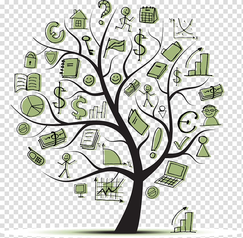 Financial personal finance investment. Tree clipart literacy