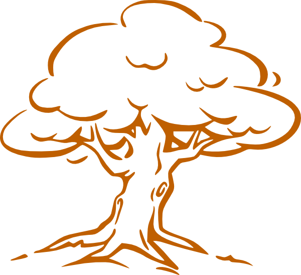Clipart trees math. Brow tree outline clip