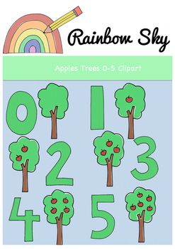 Clipart trees number. Apple numbers clip art